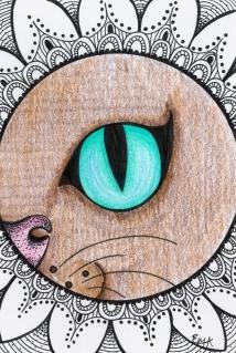Cat Eye withe Zentangle